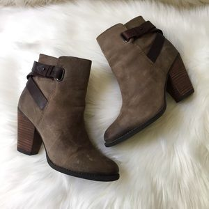 Aldo Genuine Leather Strap Boho Ankle Booties 9